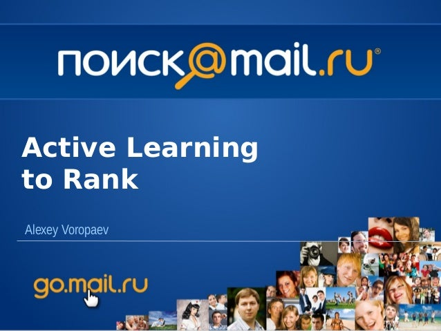 Alexey VoropaevActive Learningto Rank