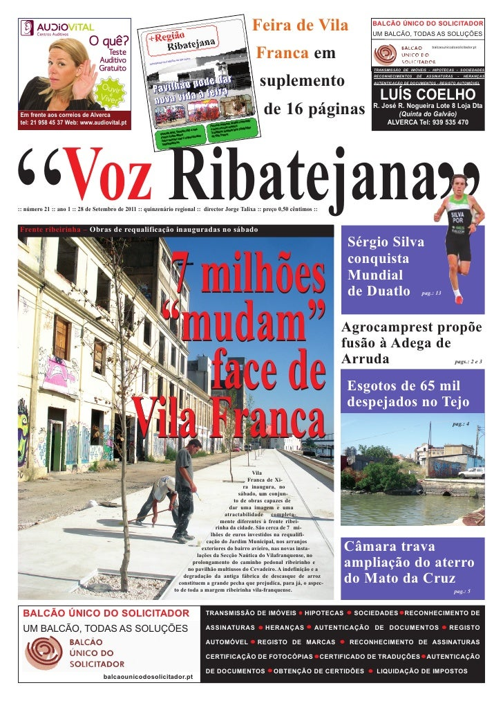 Feira de Vila                         BALCÃO ÚNICO DO SOLICITADOR                                                         ...