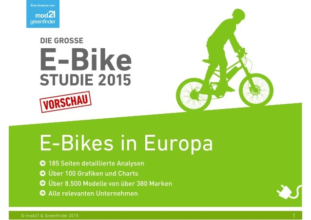 1© mod21 & Greenfinder 2015 E-Bikes in Europa