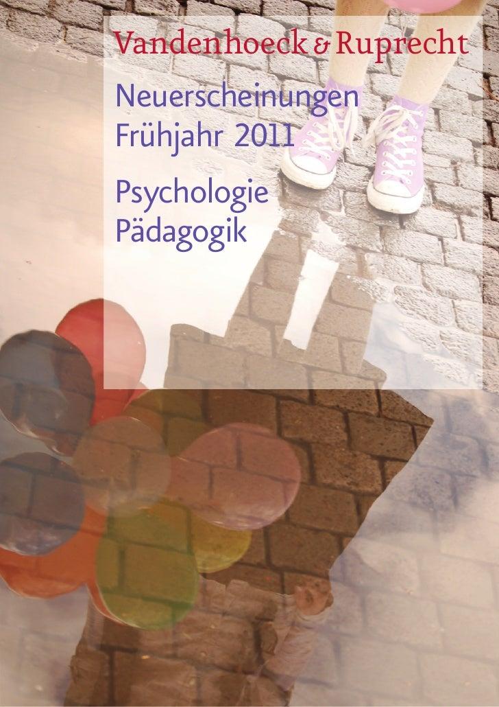 Vandenhoeck & RuprechtNeuerscheinungenFrühjahr 2011PsychologiePädagogik