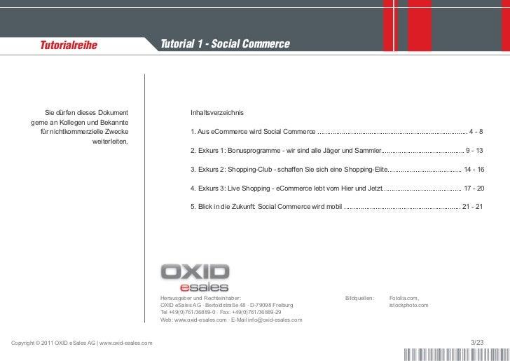 Tutorialreihe                                 Tutorial 1 - Social Commerce            Sie dürfen dieses Dokument          ...