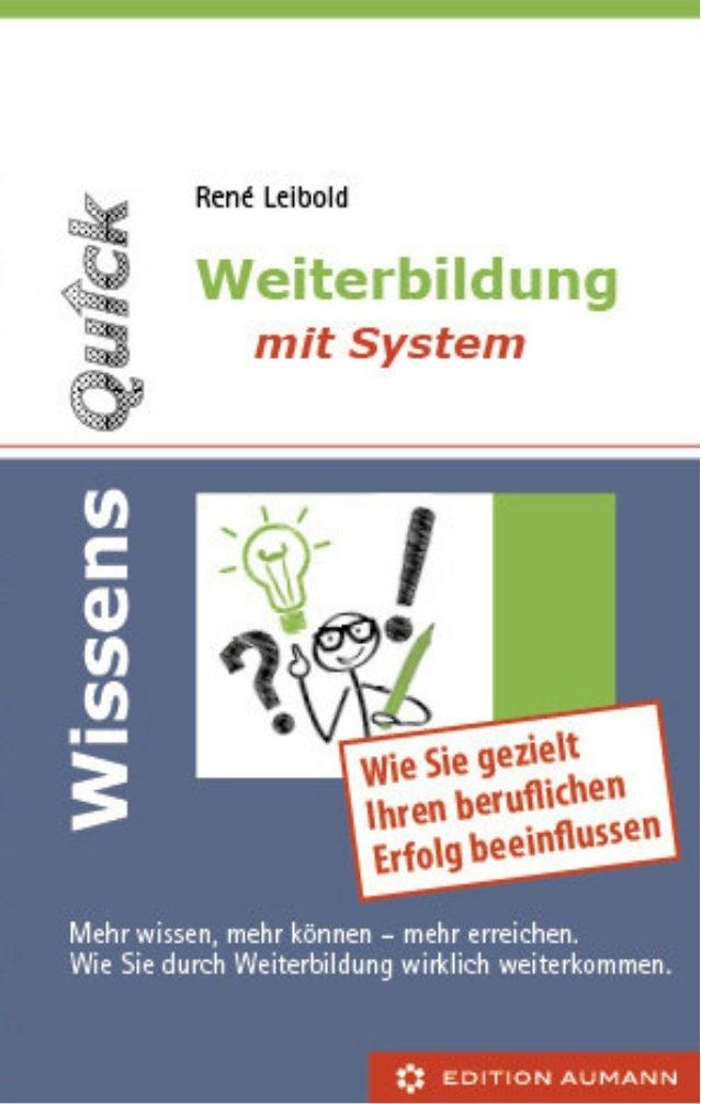 """Vorschau """"WissensQuick. Weiterbildung mit System"""""""
