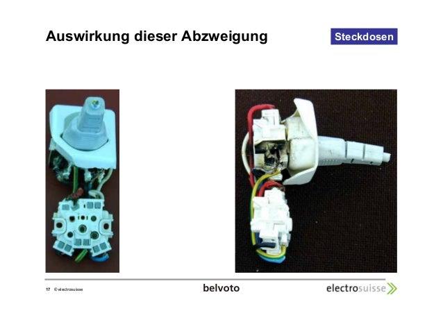 Auswirkung dieser Abzweigung Steckdosen  17 © electrosuisse