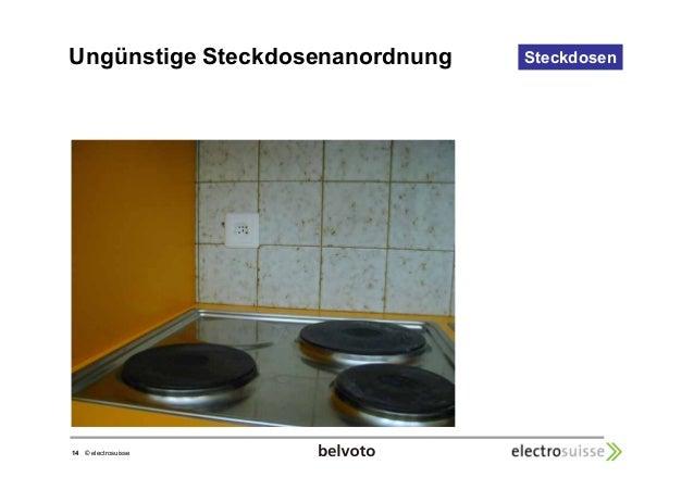 Ungünstige Steckdosenanordnung Steckdosen  14 © electrosuisse