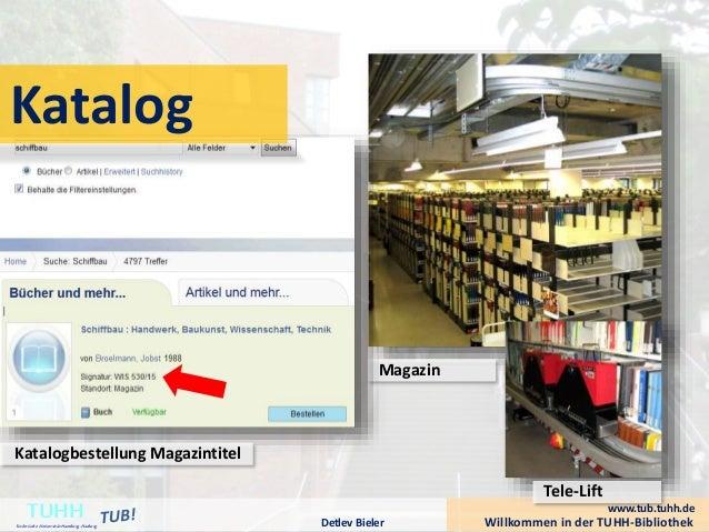 Willkommen in der TUHH-BibliothekDetlev Bieler TUHHTechnische UniversitätHamburg-Harburg Magazin Tele-Lift www.tub.tuhh.de...