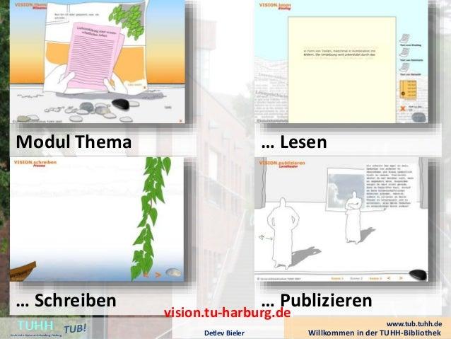 Willkommen in der TUHH-BibliothekDetlev Bieler TUHHTechnische UniversitätHamburg-Harburg Modul Thema … Schreiben … Lesen …...