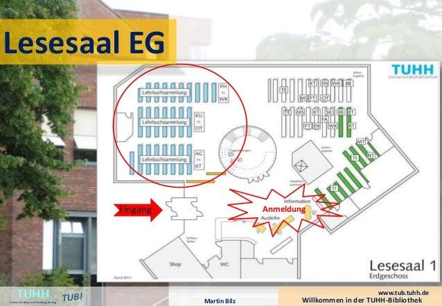 Anmeldung  Lesesaal EG  Willkommen in der TUHH-Bibliothek TUHH Technische Universität Hamburg-Harburg  www.tub.tuhh.de  Ma...