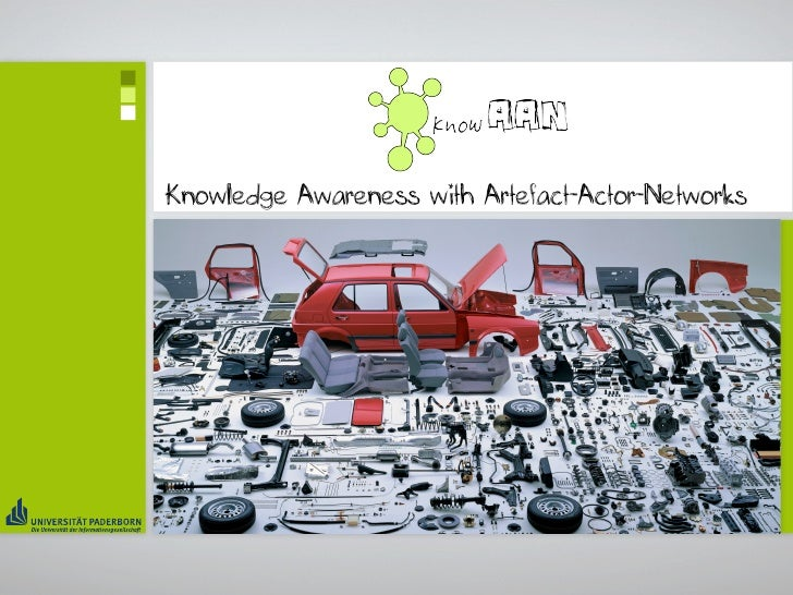 Knowledge Awareness with Artefact-Actor-Networks