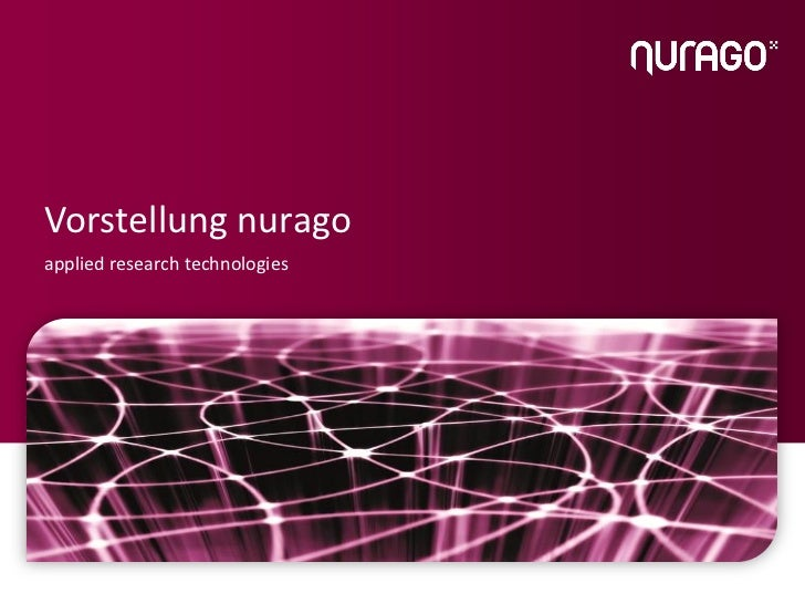 Vorstellung nuragoapplied research technologies