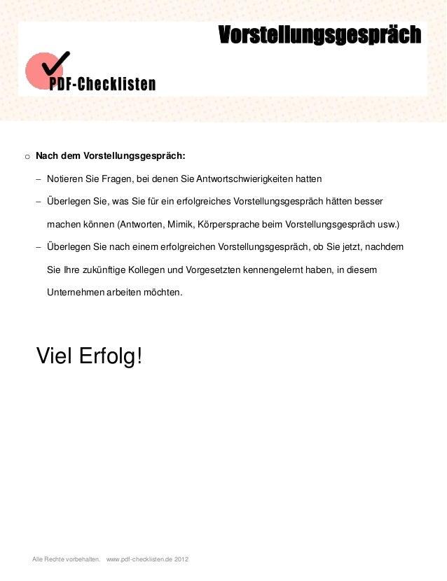 Checkliste Vorstellungsgespräch Slide 3