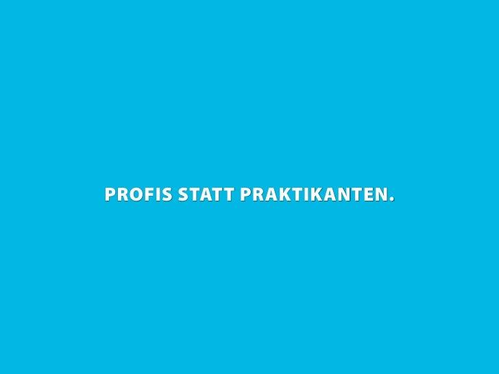 PROFIS STATT PRAKTIKANTEN.