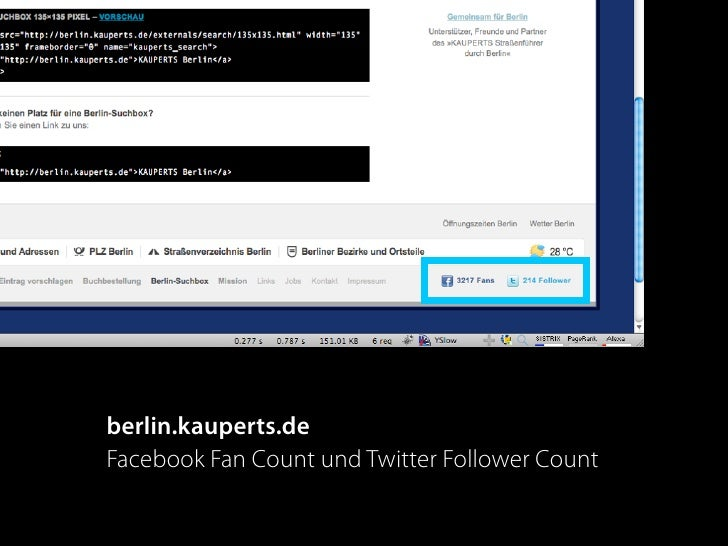 berlin.kauperts.de Facebook Fan Count und Twitter Follower Count
