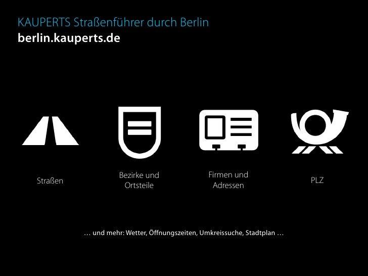 KAUPERTS Straßenführer durch Berlin berlin.kauperts.de                            Bezirke und                Firmen und   ...