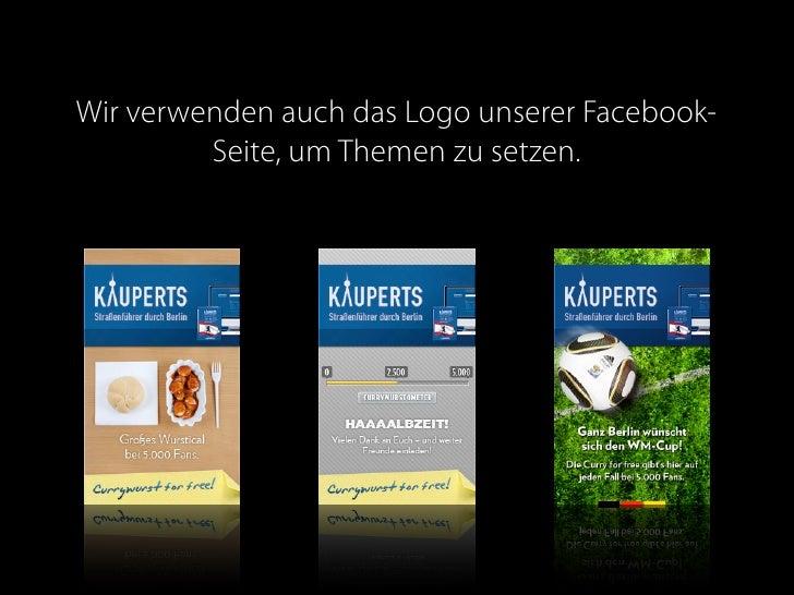 Wir verwenden auch das Logo unserer Facebook-          Seite, um Themen zu setzen.