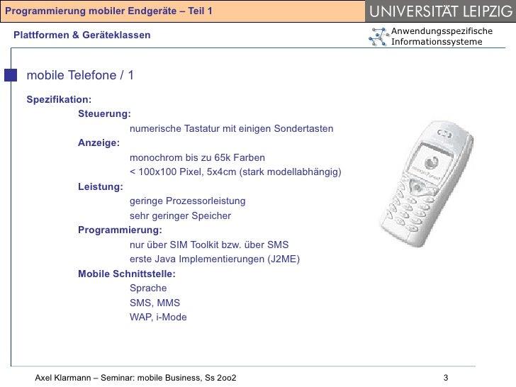 Ansätze und Chancen der Programmierung mobiler Endgeräte (2002) Slide 3