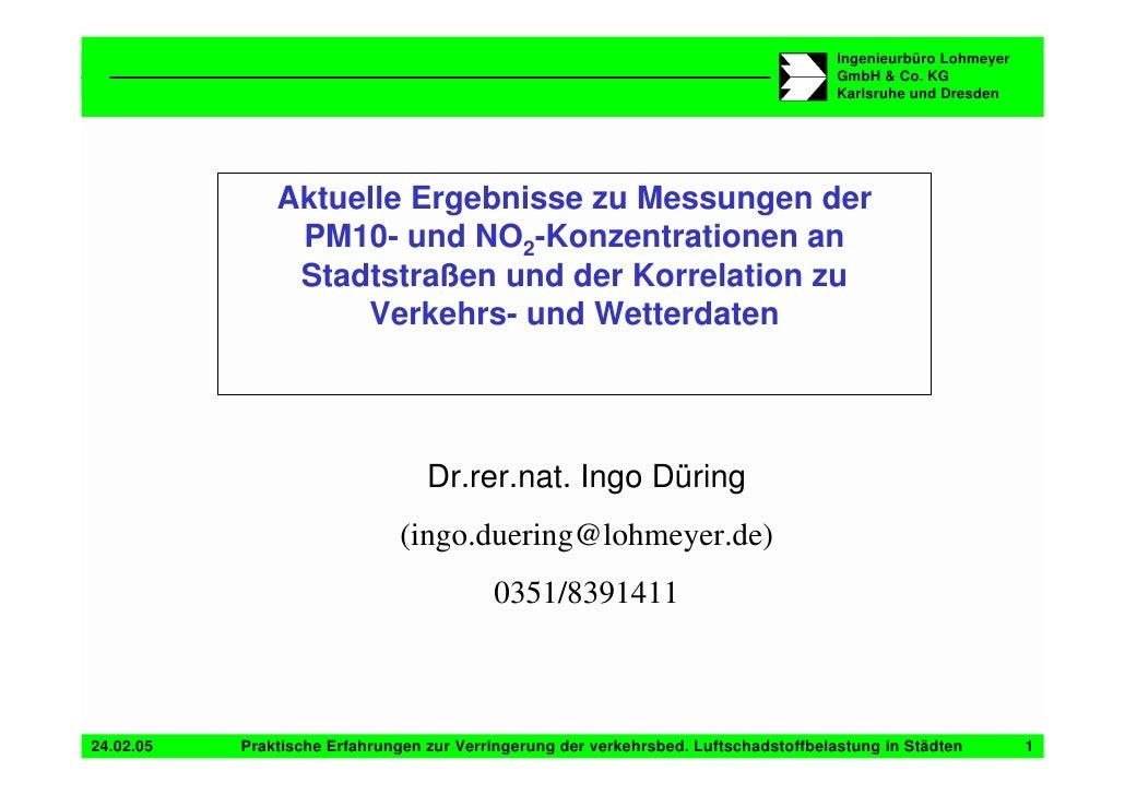 Ingenieurbüro Lohmeyer                                                                                       GmbH & Co. KG...