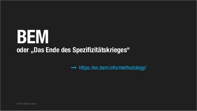 """©2016 Stefan Franke BEModer """"Das Ende des Spezifizitätskrieges"""" https://en.bem.info/methodology/"""