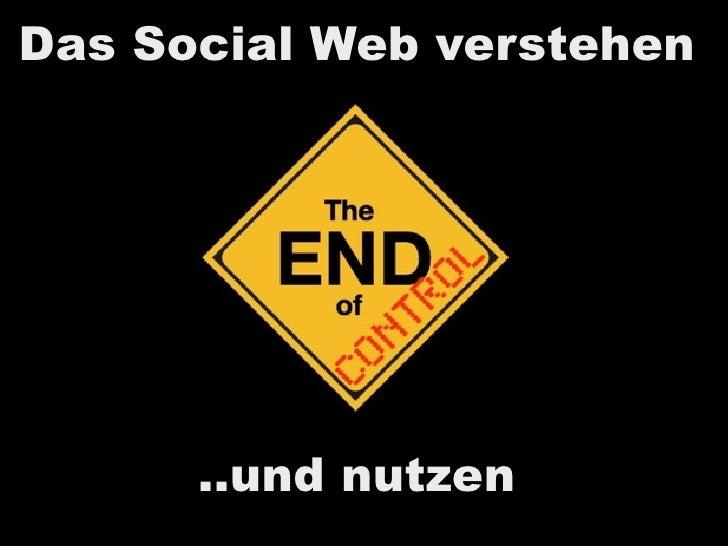 Das Social Web verstehen           ..und nutzen