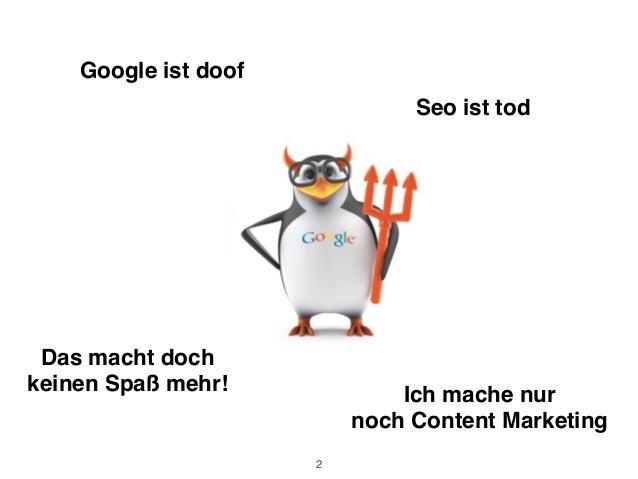 Google Panda und Pinguin Update Slide 2