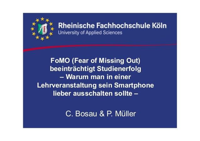 FoMO (Fear of Missing Out) beeinträchtigt Studienerfolg – Warum man in einer Lehrveranstaltung sein Smartphone lieber auss...