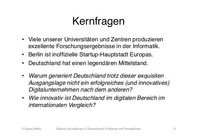 Digitale Innovationen in Deutschland: Probleme und Perspektiven Slide 3
