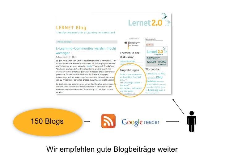 150 Blogs       Wir empfehlen gute Blogbeiträge weiter