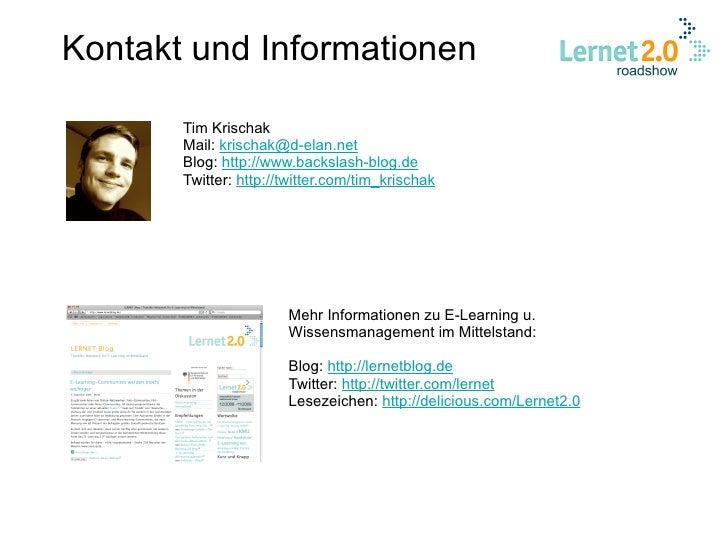 Tim Krischak: Web 2.0-Tools für Lern- und Wissensprozesse nutzen