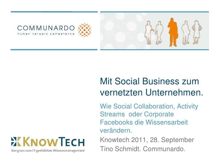 Mit Social Business zum vernetzten Unternehmen.<br />Wie Social Collaboration, Activity Streams  oder Corporate Facebooks ...