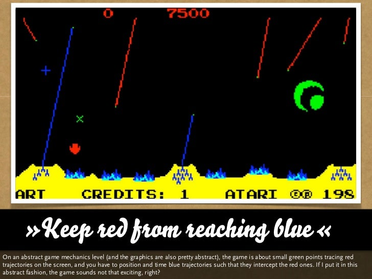 »Keep red from reaching blue«On an abstract game mechanics level (and the graphics are also pretty abstract), the game is ...