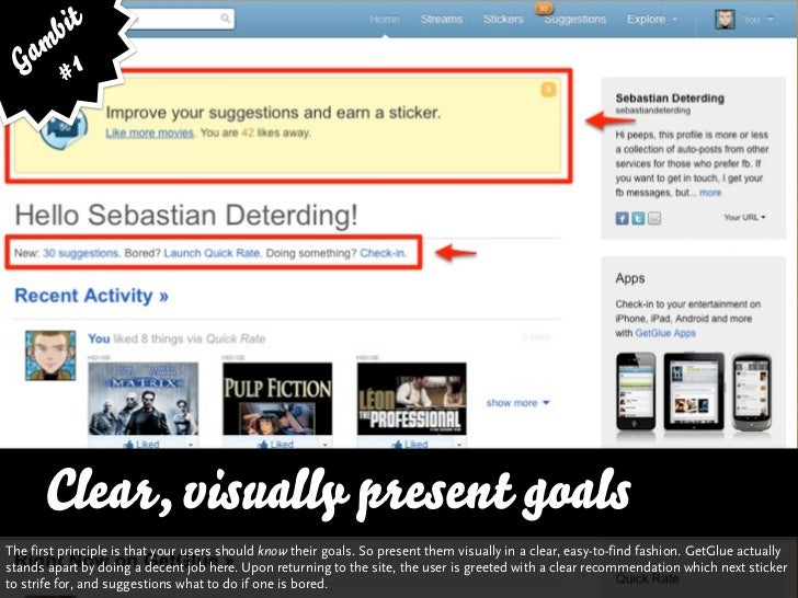 bit   am 1  G #      Clear, visually present goalsThe first principle is that your users should know their goals. So prese...