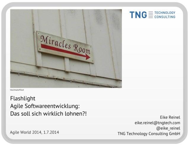 Flashlight: Agile Softwareentwicklung - Das soll sich wirklich lohnen?! (Kurzversion)