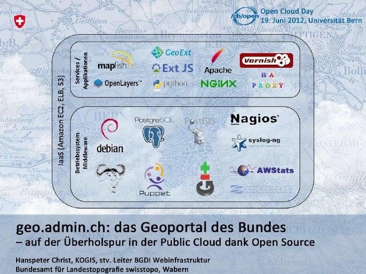 Agenda  •      Das Bundesamt für Landestopografie swisstopo  •      Gesetzlicher Auftrag  •      «geo.admin.ch: das Geopor...