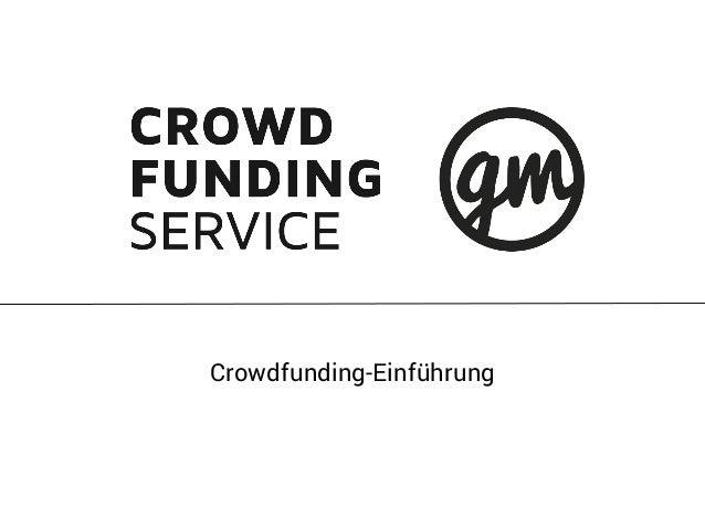 Crowdfunding-Einführung
