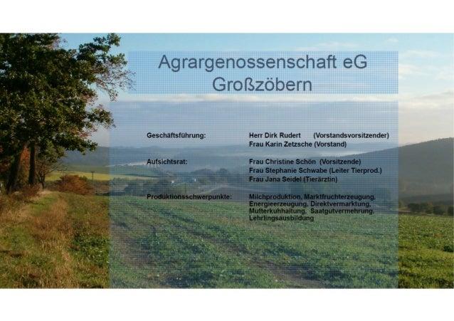 Arbei skräf e 26 Anges e lte Landwirtschaftliche Nutzfläche: 1.200 ha öhenlage: 405 - 610 über NN Jahresniederschlag: 680 ...