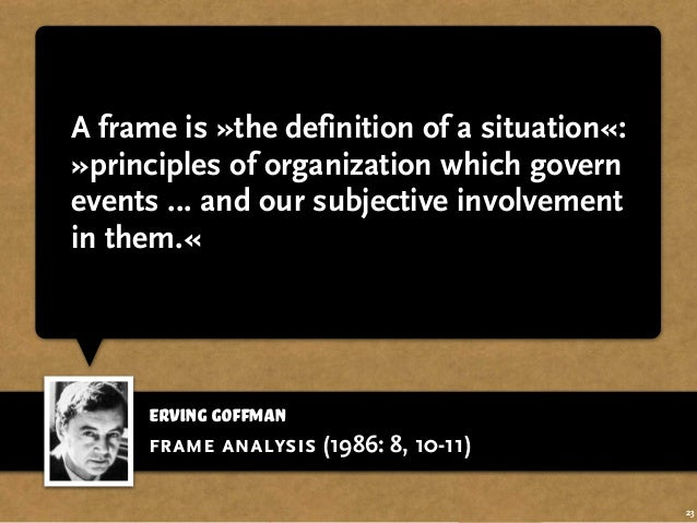 an essay on the organization of experience This item: frame analysis: an essay on the organization of experience by erving goffman paperback $2609 only 17 left in stock (more on the way) ships from and.