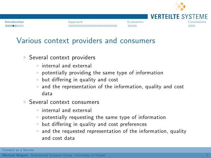Introduction                          Approach                 Evaluation            Conclusions        Various context pr...