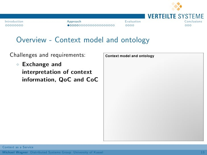 Introduction                          Approach                           Evaluation         Conclusions        Overview - ...