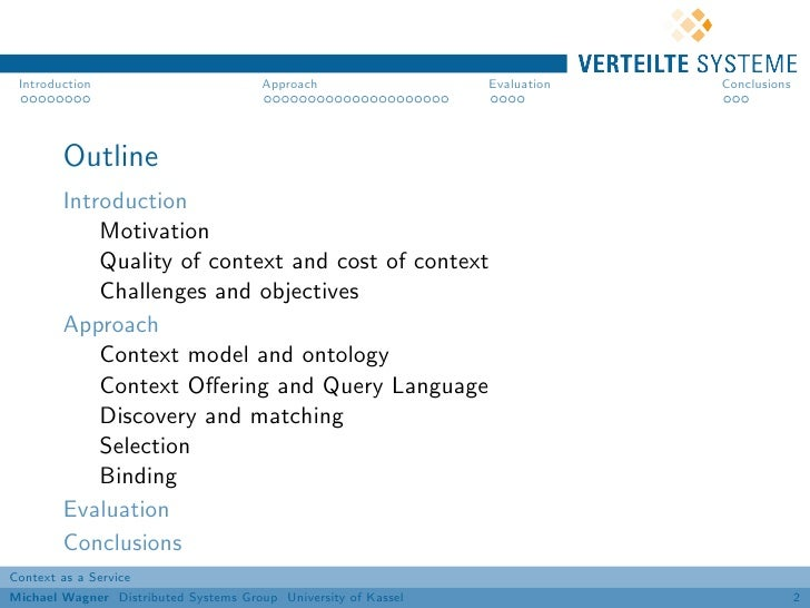 Introduction                          Approach                 Evaluation   Conclusions        Outline        Introduction...