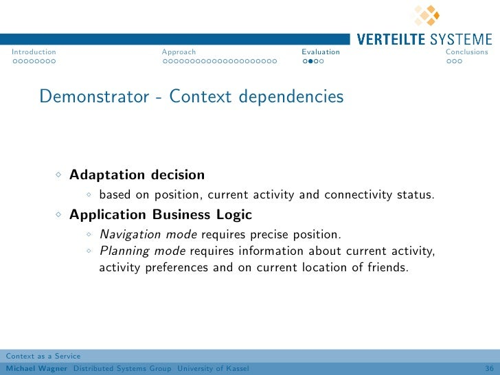 Introduction                          Approach                 Evaluation            Conclusions        Demonstrator - Con...