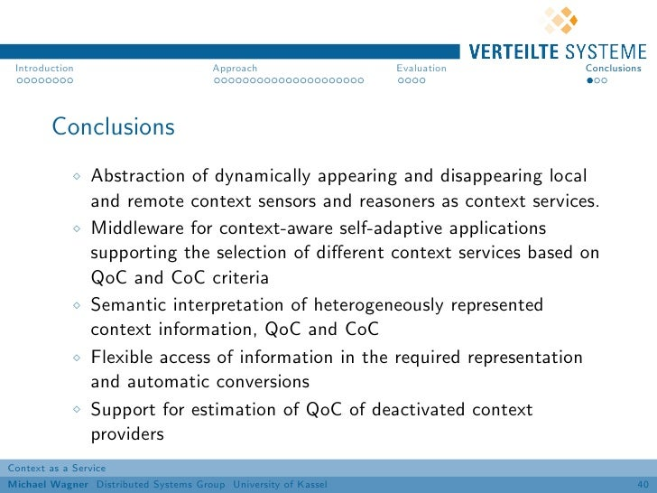 Introduction                          Approach                 Evaluation   Conclusions        Conclusions                ...