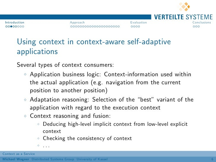 Introduction                          Approach                 Evaluation            Conclusions        Using context in c...