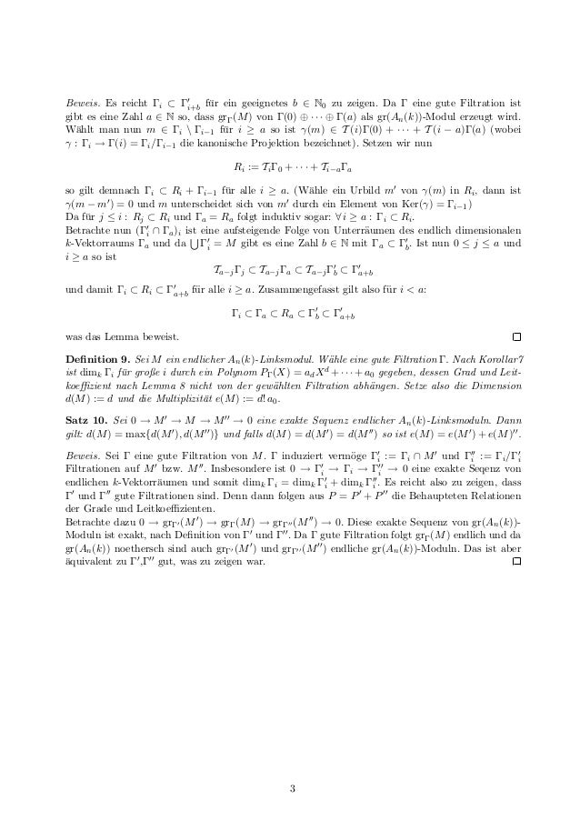 Dimension und Multiplizität von D-Moduln Slide 3