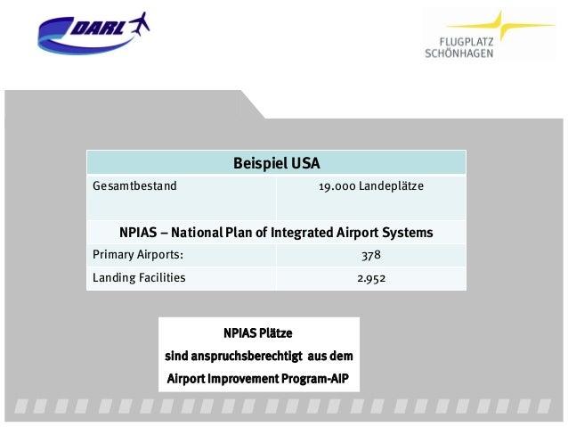 Einfache Rechnung für den Staat: 27 Millionen Flüge p.a. auf allen 2.952 NPIAS Flugplätzen / 9.146 pro Flugplatz. Investme...