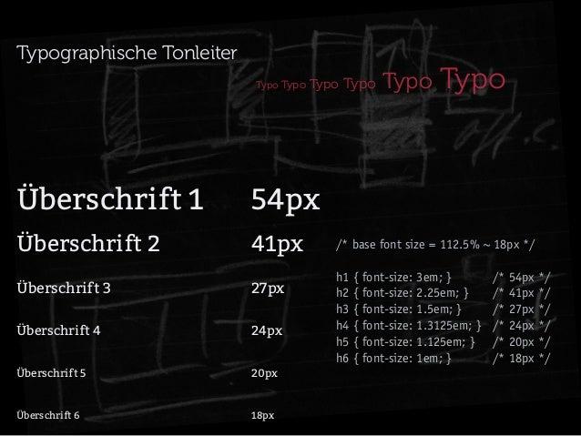 Typographische Tonleiter Typo Typo  Typo Typo  Typo  Typo  Überschrift 154px Überschrift 241px Überschrift 3...
