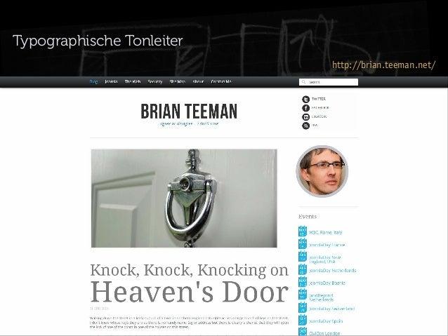 Typographische Tonleiter http://brian.teeman.net/