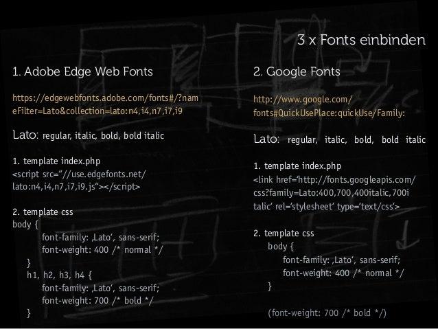 Vortrag über Typografie und Ästhetik im responsive web
