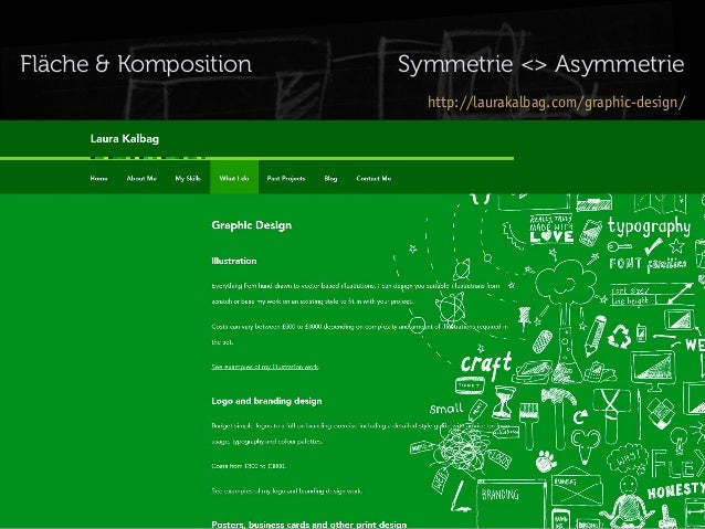 Fläche & Komposition  Symmetrie <> Asymmetrie http://laurakalbag.com/graphic-design/