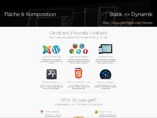 Fläche & Komposition  Statik <> Dynamik http://www.yootheme.com/themes