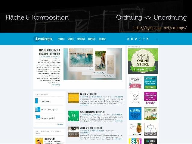 Fläche & Komposition  Ordnung <> Unordnung http://tympanus.net/codrops/