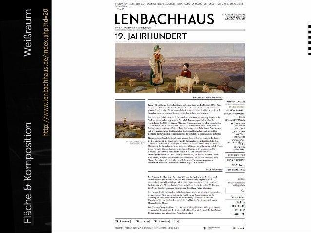 Weißraum  http://www.lenbachhaus.de/index.php?id=20  Fläche & Komposition